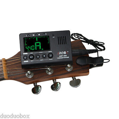 Aroma AMT-560 Tuner Metronome Mic With Pickup 6.3mm for Guitar Chromatic Violin