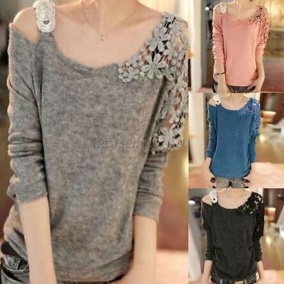 Women's Casual Round Neck Long Sleeve Knitted Sweater Loose Knitwear Pullover