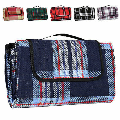 Acrylic Picnic Blanket Car Travel Camping Waterproof Mat Rug With Carry Handle