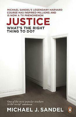 Justice: What's the Right Thing to Do? by Michael Sandel (English) Paperback Boo