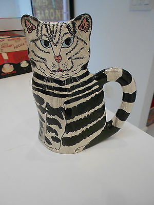 "OXFORD ELITE CAT VASE/MUG WITH HANDLE-VG++ CONDITION-6"" X 5"" X 2 1/2"""