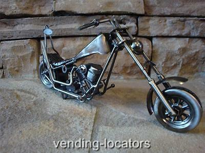 CHOPPER Die-Cast MOTORCYCLE Metal Sculpture Vintage Style Harley Indian Honda