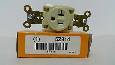 Hubbell Receptacle Hbl5361 20A 125V New Single Receptacle