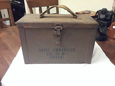 50 Caliber Ammo Chest M17 D39091 WW2 WWII US Army Box Ammo Can 50 Cal Ammunition