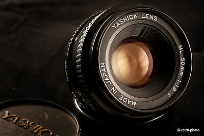 Yashica 50mm f1.9 ML standard lens, Contax/Yashica C/Y mount, TESTED, exc. cond.