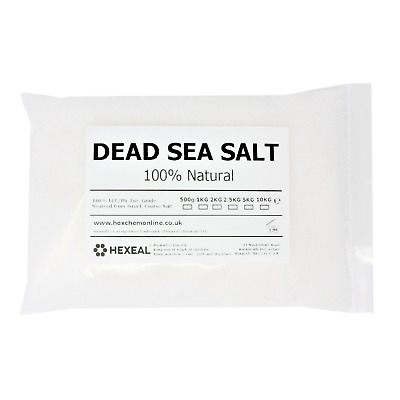 DEAD SEA BATH SALTS | 1KG BAG | 100% Natural Organic | FCC Food Grade