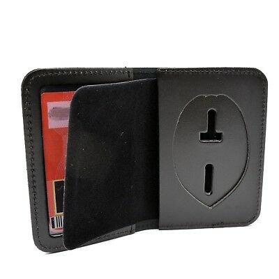 Leather Wallet for Concealed Weapons Carry Permit Badge CCW/CWP Quality USA Made