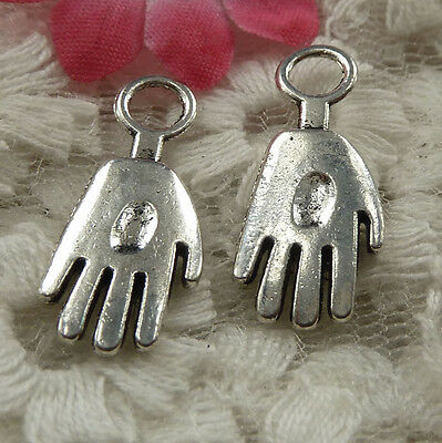free ship 180 pieces Antique silver hand charms 24x10mm #4193