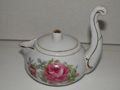 Lefton Handpainted Stackable Creamer With Lid