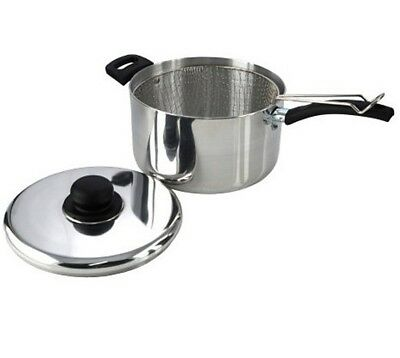 Light Weight Chip Pan Fryer With Lid + Basket - 22cm