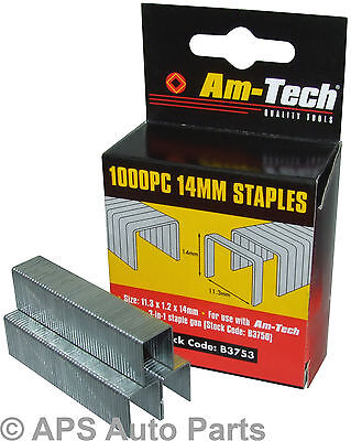Heavy Duty Staples 1000pc Gun Air 14mm Upholstery Tacker Great Quality New
