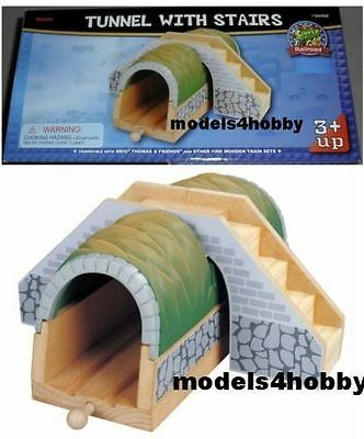 Railroad Wooden Railway - Thomas & Brio Compatible - Tunnel With Stairs - 50459