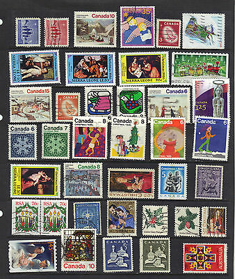 CHRISTMAS Thematic Stamp Collection MINT USED Ref: TH93