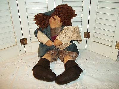 """Vintage """"Attic Babies"""" Marty Maschino 17 In. Cloth Primitive Doll~L@@K"""