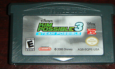 Kim Possible 3: Team Possible (Nintendo Game Boy Advance, 2005) CARTRIDGE ONLY