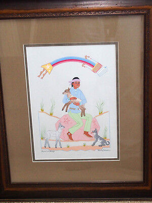 HARRISON BEGAY / NAVAJO /  ORIGINAL PAINTING