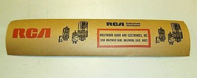 Vintage RCA Advertising Label Sticker Tape Advertisement Electron Vacuum Tubes