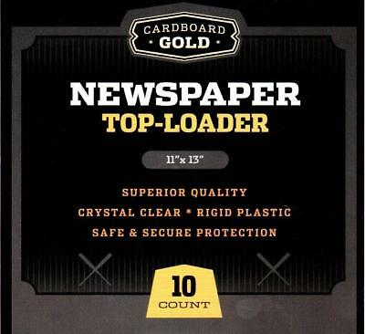 (100) CBG NEWSPAPER / TABLOID 11x13 STORAGE DISPLAY RIGID TOPLOADER HOLDERS