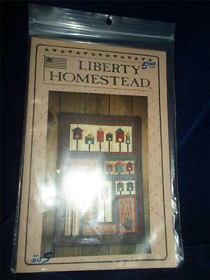 Country/Primitive PATTERN-Liberty Homestead-A BIRD IN THE HAND WALL HANGING