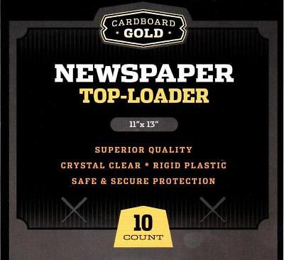 10 - CBG NEWSPAPER / TABLOID 11x13 STORAGE DISPLAY RIGID TOPLOADER HOLDERS