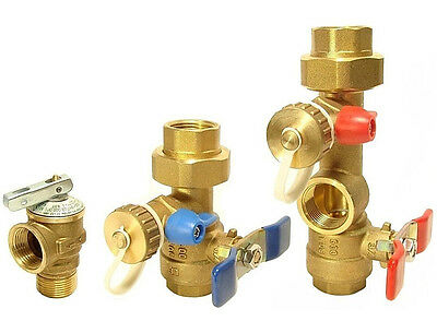 Takagi - Tankless Water Heater Isolation Valves Kit With Relief Valve Threaded