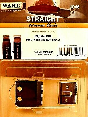 Wahl Straight Standard Trimmer Blade Oil & Screws #1046 Authentic 0043917104607