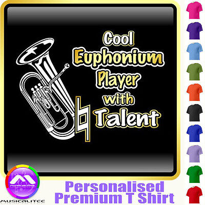 Euphonium Cool Player With Natural Talent - Music T Shirt 5yrs - 6XL MusicaliTee