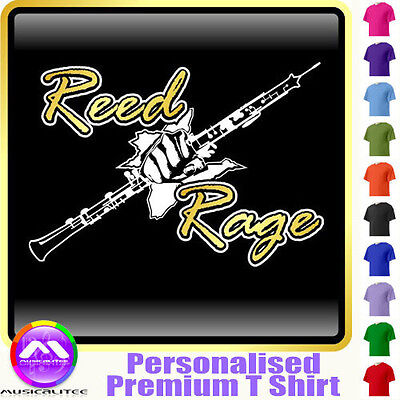 Oboe Reed Rage Fist - Personalised Music T Shirt 5yrs - 6XL by MusicaliTee