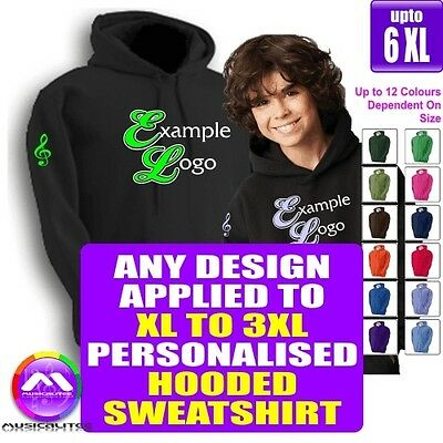 HOODY XL - 3XL With Any Music Design Personalised by MusicaliTee