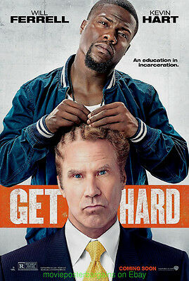GET HARD MOVIE POSTER Original DS 27x40 ADVANCE  WILL FERRELL KEVIN HART