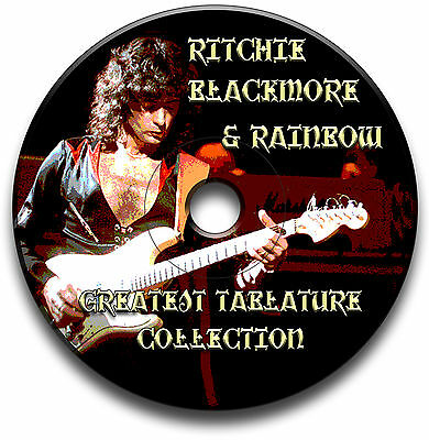 Ritchie Blackmore & Rainbow Rock Guitar Tabs Tablature Song Book Software Cd