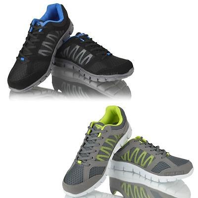 Mens Running Walking Trainers Lace up Gym Casual Boys Fitness Sports Shoes Size