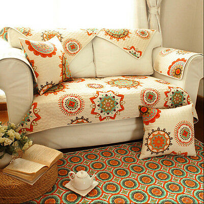 1 PC Shabby Sun Flower Sofa Couch Slip Cover Mat/Throw Rug/Floor Runner