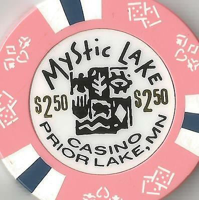 Mystic Lake   $2.50 Pink   Casino Chip Prior Lake  Mn