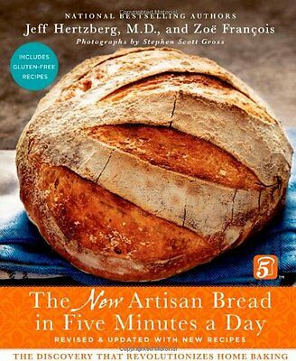 The New Artisan Bread in Five Minutes a D by Jeff Hertzberg, Zou0, FREE SHIP