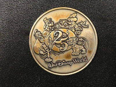 Disney Collectable Bronze Coin - Walt Disney World 25th Anniversary - Genie...