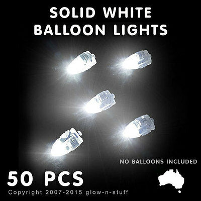 50 X Led Solid White Balloon Lights Light For Party Balloons Wedding Lantern