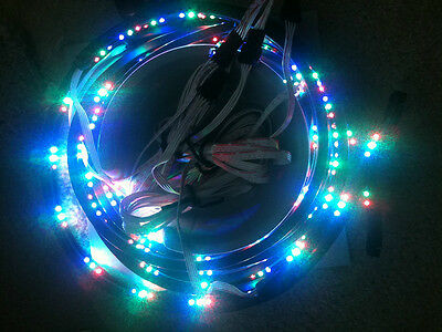 """FLEXIBLE UNDER CAR KIT LED TWO 48"""" TWO 36"""" 7 MULTI COLOR w/REMOTE RED GREEN BLUE"""