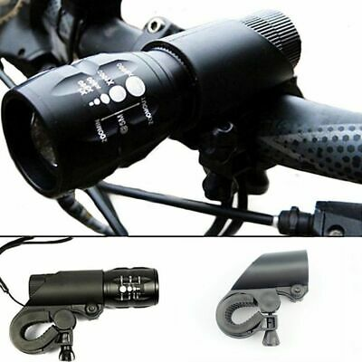Bike Bicycle Light Lamp Front Torch LED Flashlight Mount Bracket Holder