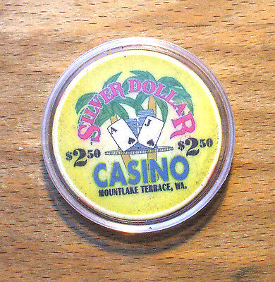 $2.50 Silver Dollar Casino Chip - Mountlake Terrace, Washington