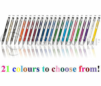 1/50/100/250/500 Personalised Engraved Metal Pens Wholesale Promotional Pen