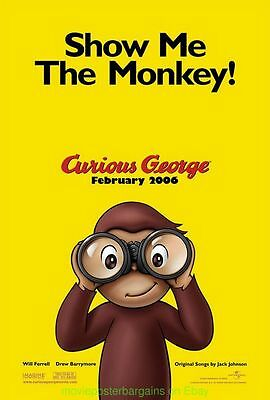 CURIOUS GEORGE MOVIE POSTER Original DS 27x40 Advance Style 2006 Film
