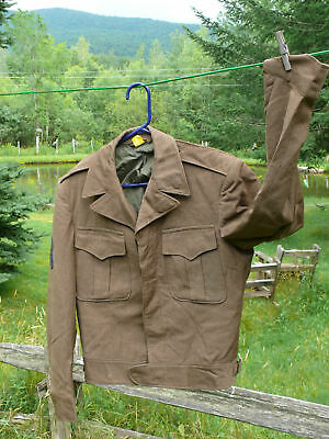Ww2 Us Army Ike Jacket Staff Sergeant Vermont Soldier Carry Back Size 36 Long