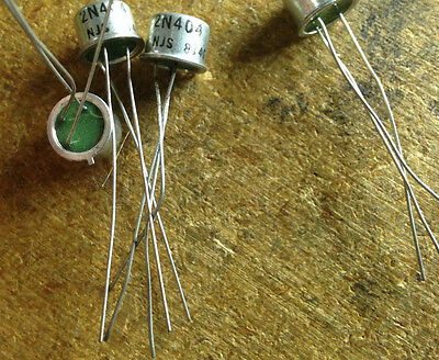 """10Pc """"new"""" New Jersey Semi 2N404 To-5 Extended Temp Germanium Pnp Transistor"""