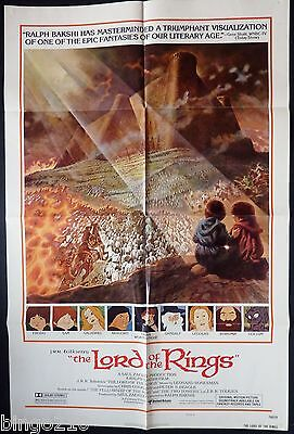 The Lord Of The Rings Original1 Sheet  Poster Ralph Bakshi 1978 J R R Tolkien
