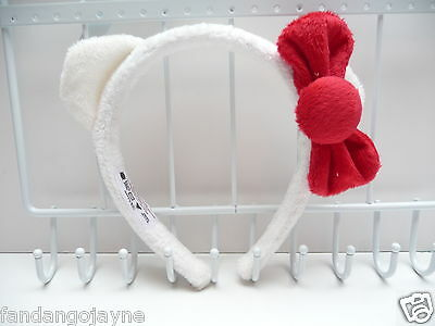 Hello Kitty white fluffy ears Headband    - Costume Jewellery Headbands- ( Plea