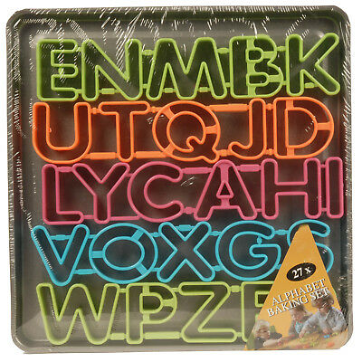 Childrens A-Z Alphabet Cookie Biscuit Cutter Mould Tin Baking Cooking Tray Set
