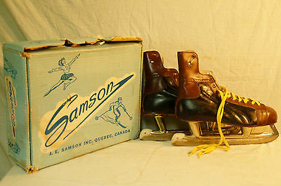 Vintage Mens ICE SKATES mint Condition RARE! BY SAMSON MONTREAL QUEBEC ,