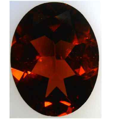 Natural Fine Deep Red Garnet - Oval - Mozambique - Top Grade - Loose Gemstone