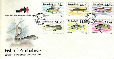 ZIMBABWE 1994 FISHES Stamps FIRST DAY COVER Unaddressed REF:202